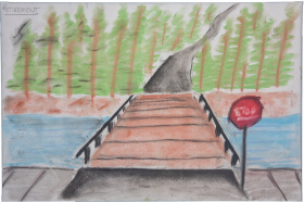 drawing of a bridge